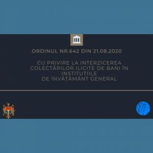 Interzicerea colectărilor ilicite de bani în instituțiile de învățământ general